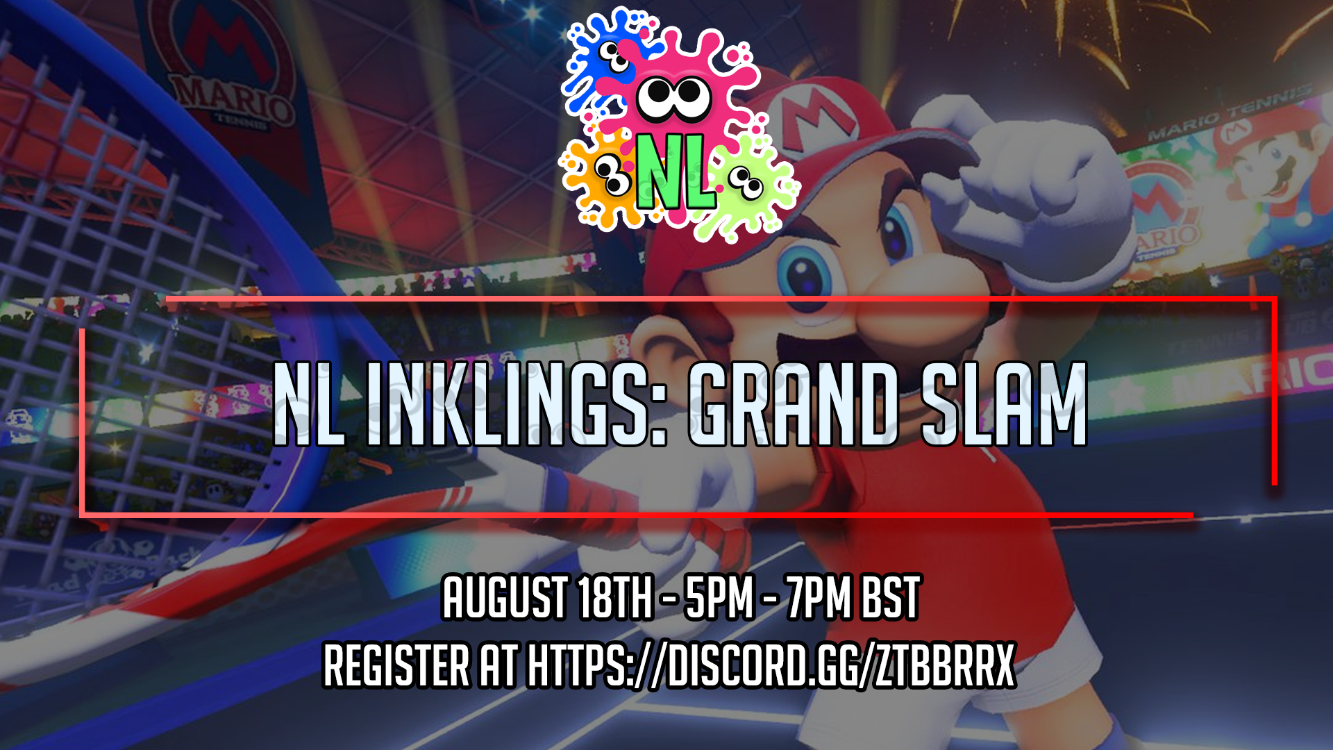 The NLI Tournament for the end of August is Mario Tennis!